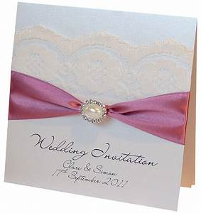 Pearl And Lace Wedding Invitation By Made With Love