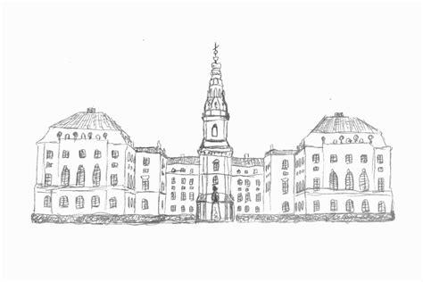 copenhagen christiansborg palace sketch  michael lev