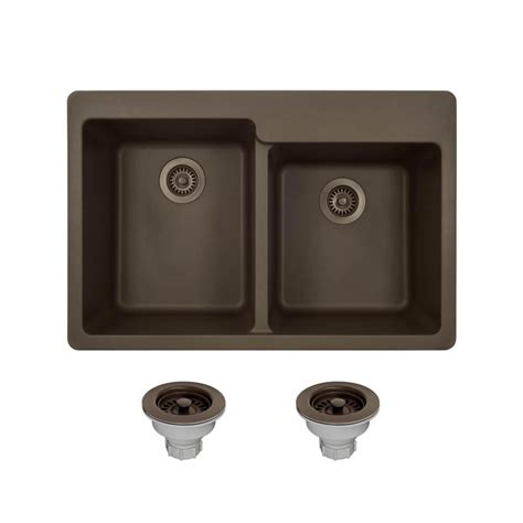 kitchen drop in sinks blanco dual mount composite 33 in 1 4737