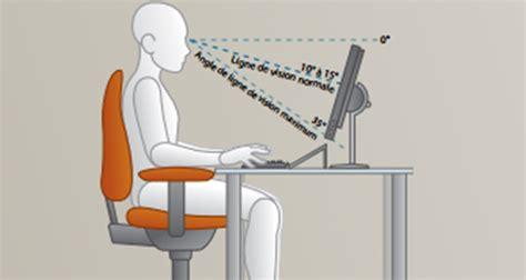 bonne posture au bureau ergonomie la bonne posture devant pc plusieurs
