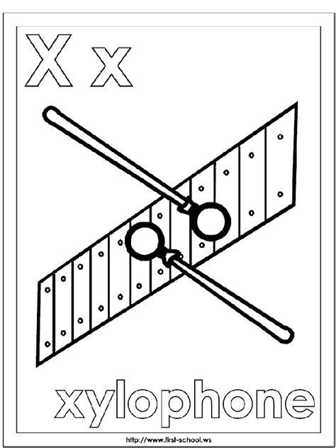 preschool letter x xylophone coloring page alphabet letter x preschool 274