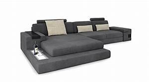 Couch L Form Grau : ecksofa couch wohnlandschaft stoffsofa l form grau creme eckcouch designsofa mit led licht ~ Indierocktalk.com Haus und Dekorationen