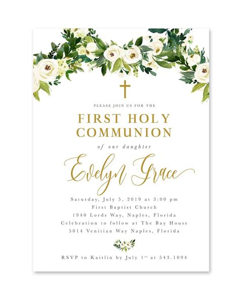 Evelyn: Floral And Greenery First Holy Communion