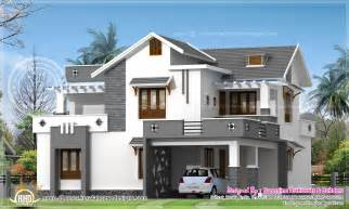 contemporary floor plans for new homes modern 214 square meter house elevation kerala home design and floor plans