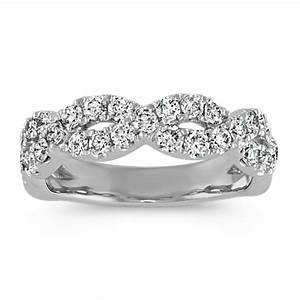 Round Diamond Infinity Wedding Band Shane Co