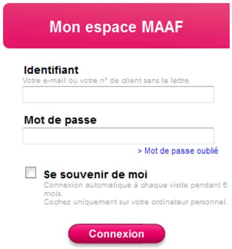 www maaf fr rubrique espace client maaf