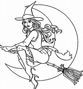 Free witches halloween coloring pages