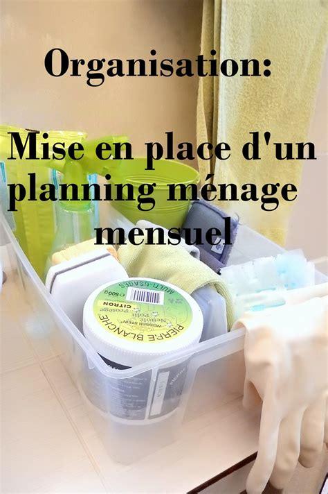 Organisation Mise En Place D'un Planning De Ménage