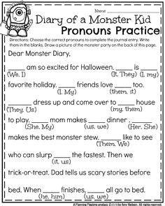 pronoun activities images teaching pronouns