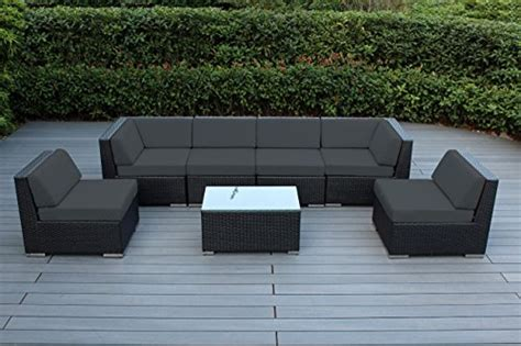 ohana 7 outdoor wicker patio furniture sectional