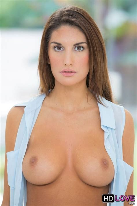 August Ames makes love to her man in blue lingerie (HD Love - 16 Pictures)