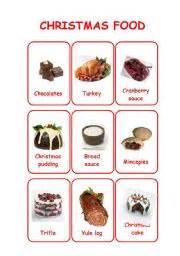 christmas flashcards set 3 foods