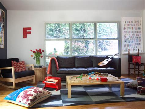 tips  creating  family friendly living room hgtv
