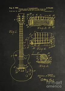 Gibson Les Paul Guitar Blueprint  Gibson Guitar Patent