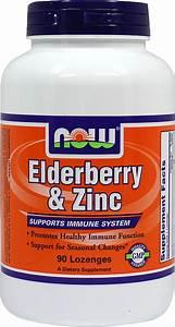 Now Elderberry  U0026 Zinc Lozenges 90 Lozenges
