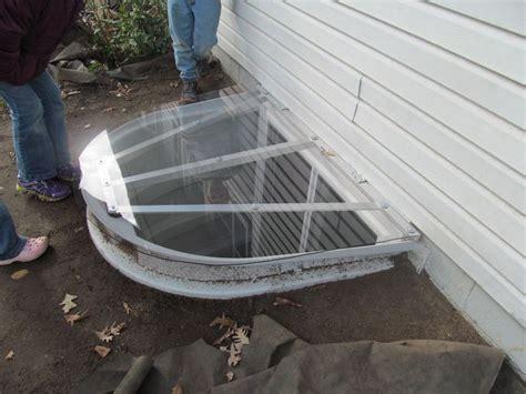 egress window cover lexan shaped aluminum