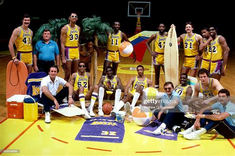 Members of the 1984 Los Angeles Lakers NBA Championship ...