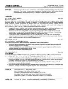resume information technology manager resume exles information technology manager