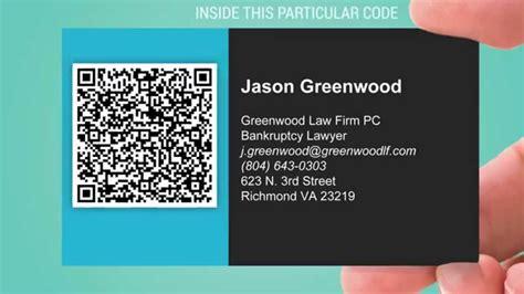 share  vcard  business card  qr code youtube
