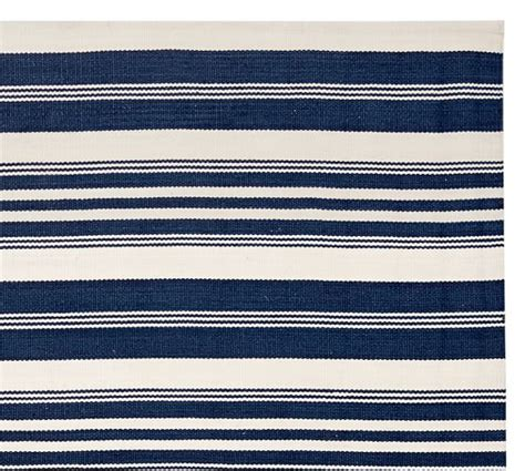 Stripe Outdoor Rug by Oxford Stripe Recycled Yarn Indoor Outdoor Rug Blue