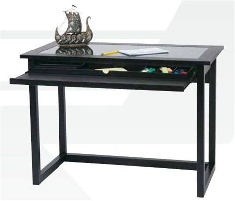 Office Desk No Assembly Required by Black Wood Finish Glass Computer Desk By Broadway