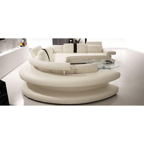 canapé repose pied canapé panoramique en cuir vancouver pop design fr