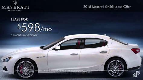 2015 Maserati Ghibli Lease Offer Maserati Of Anaheim Hills