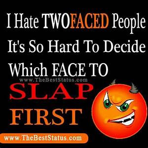 Two Faced People Quotes. QuotesGram