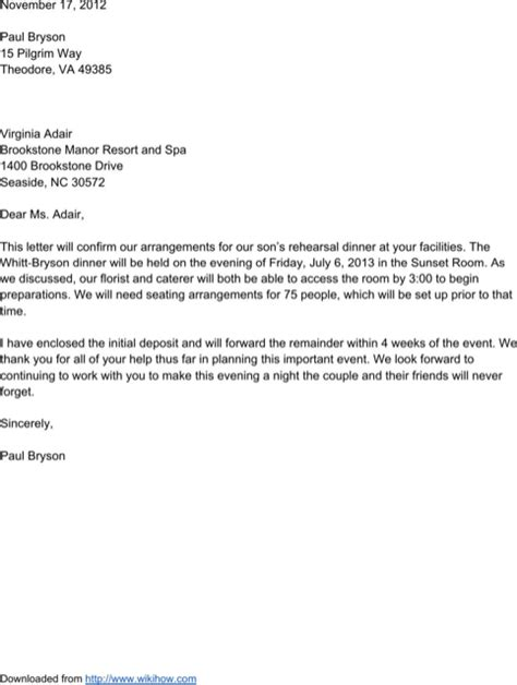 confirmation letter template   formtemplate