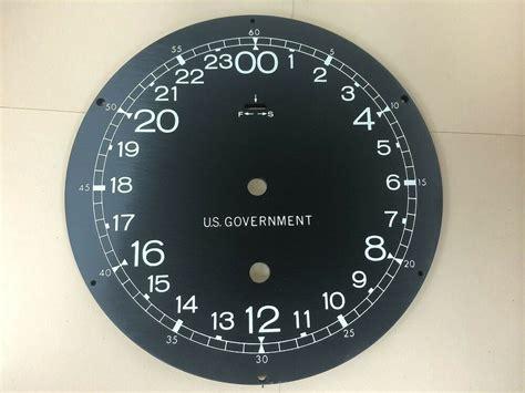 Surplus Military 24 Hour Clock Face