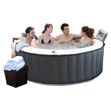 spa gonflable b 112 silver cloud 6 places rond achat vente spa complet kit spa spa