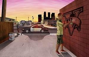 Photos GTA 5 Police Games Graffiti Vector Graphics