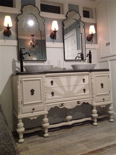 Repurposed Sideboard by Our Antique Sideboard Buffet Repurposed Into A Bathroom