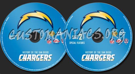 Nfl History Of The San Diego Chargers Dvd Label