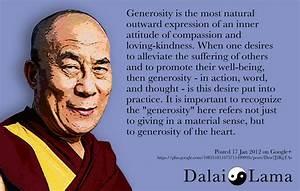 Generosity. Dalai Lama. | Quotes...Gratitude and Kindness ...