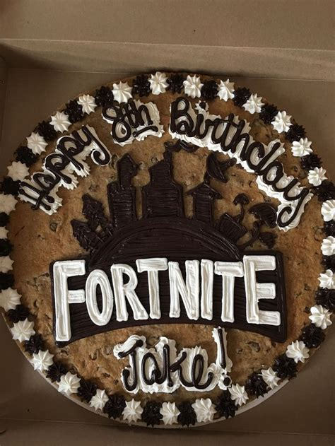 fortnite cookie cake kids party   pinterest