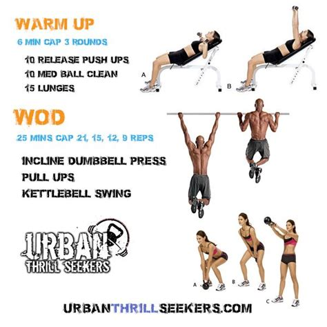 kettlebell ups clean push pull crossfit workout workouts incline swing ball dumbbell press release wod med swings amrap lunges daily