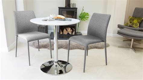 white gloss 2 seater dining table pedestal base uk