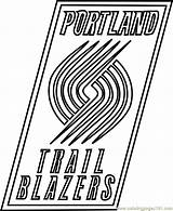 Coloring Blazers Trail Portland Nba Pages Coloringpages101 Whitesbelfast Sports sketch template