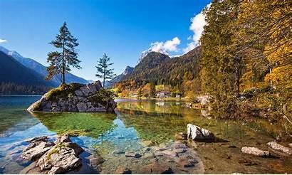 Herbst Berchtesgaden Ramsau Hintersee Germany Land Berchtesgadener