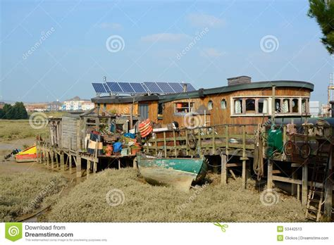 Houseboat England by Houseboat On River Adur At Shoreham England Editorial