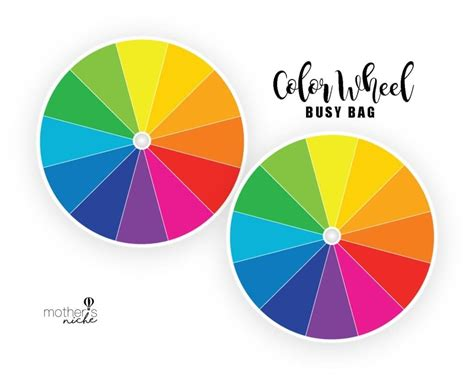 wheel of color color wheel busy bag plus free printable