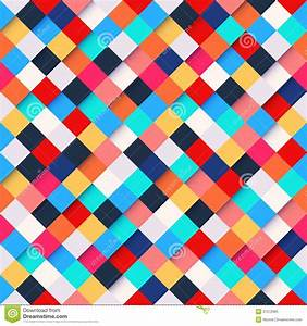 Abstract Colorful Square Pattern Background Stock