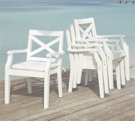 hstead stacking dining chair white pottery barn