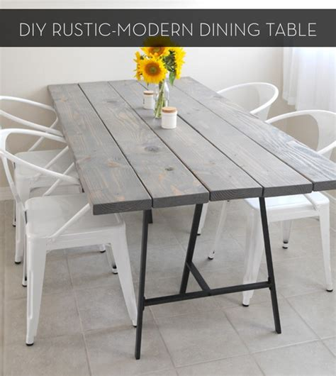 diy rustic dining table make it a rustic modern diy dining table curbly diy