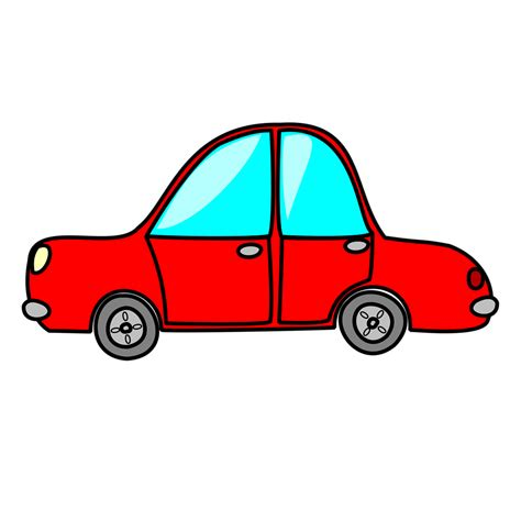 Car Free Stock Photo Illustration Of A Red Cartoon Car