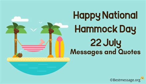 Hammock Day by Happy National Hammock Day July 22 Messages And Quotes