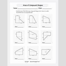 Find The Area Of Compound Shapes With Rectangular And Triangular Shapes (not Drawn To Scale