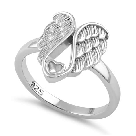 Sterling Silver Angel Wings With Heart Ring. Fools Gold Wedding Rings. Antique Onyx Engagement Wedding Rings. 30th Anniversary Wedding Rings. Necklace Wedding Rings. Halftone Rings. Journey Engagement Rings. Gunmetal Rings. Good Quality Engagement Rings