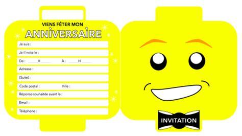 5 Cartes Invitation Anniversaire Ninjago 01